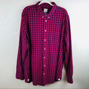 Gap men's checked button down shirt sz XXXL tall